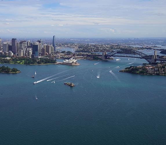 Sydney CBD on an Autumn day.